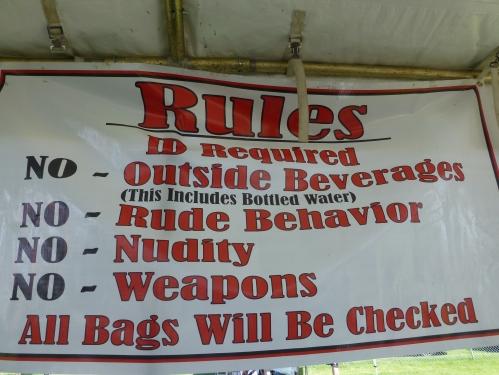 rules of the beer garden