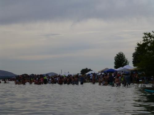 The water follies grandstands