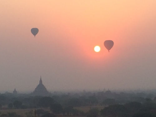 Balloons over Began at sunrise