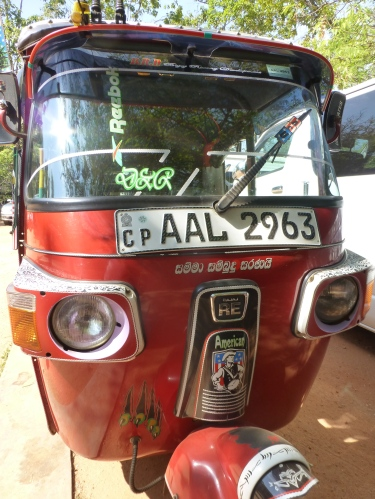 Tuk tuk. The Sri Lankan 3 wheel taxi