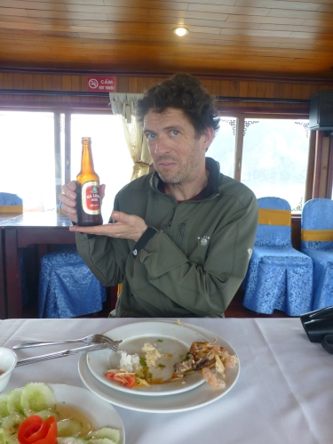 On the boat on Halong bay, Vietnam