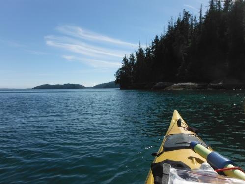 Cruising calmer waters