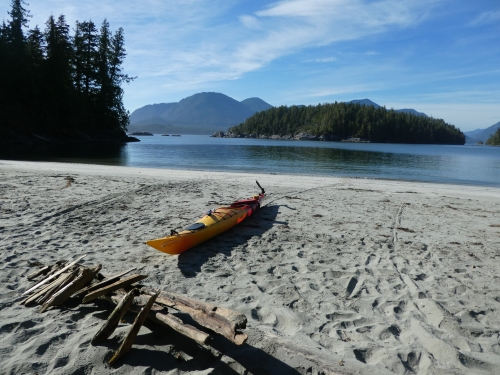 My beach camp on Flores island, BC.