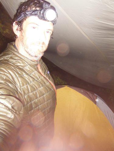 Last line of defense. Tent under tarp. Heavy rain.